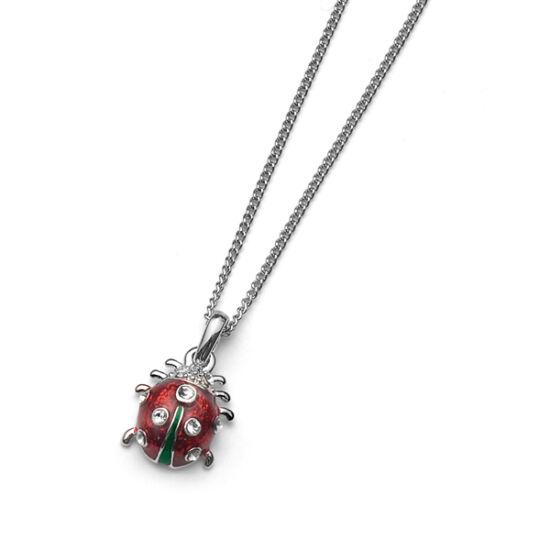 Nyaklánc Ladybug mini rhod. crystal
