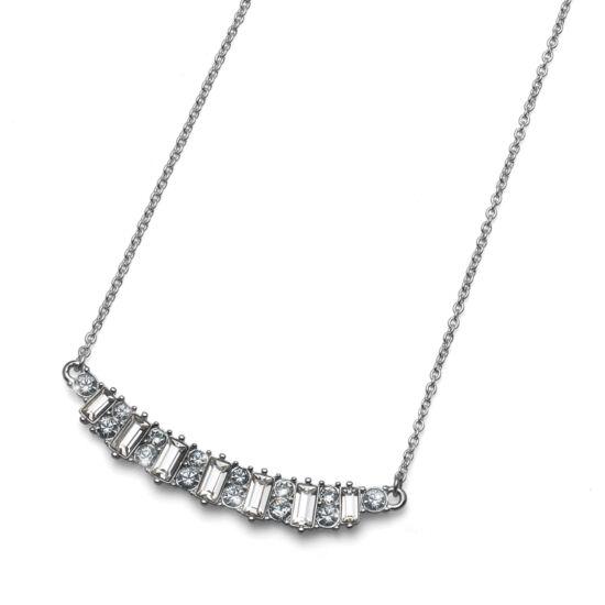 Nyaklánc Present rhod. crystal