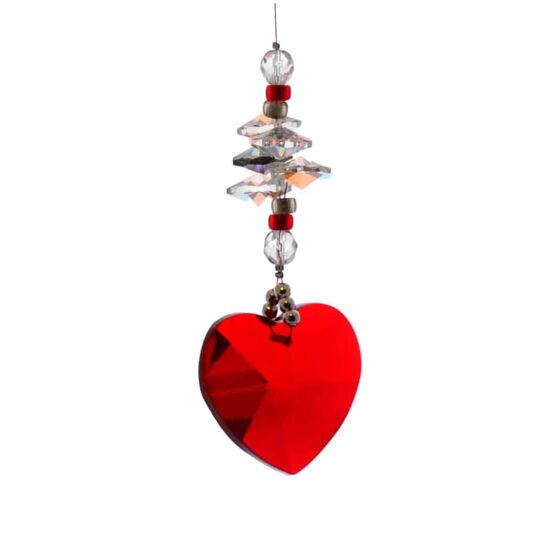 Ablakdísz - piros szív